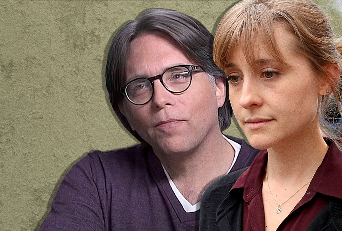 Keith Raniere; Allison Mack  (YouTube/Getty/Jemal Countess)