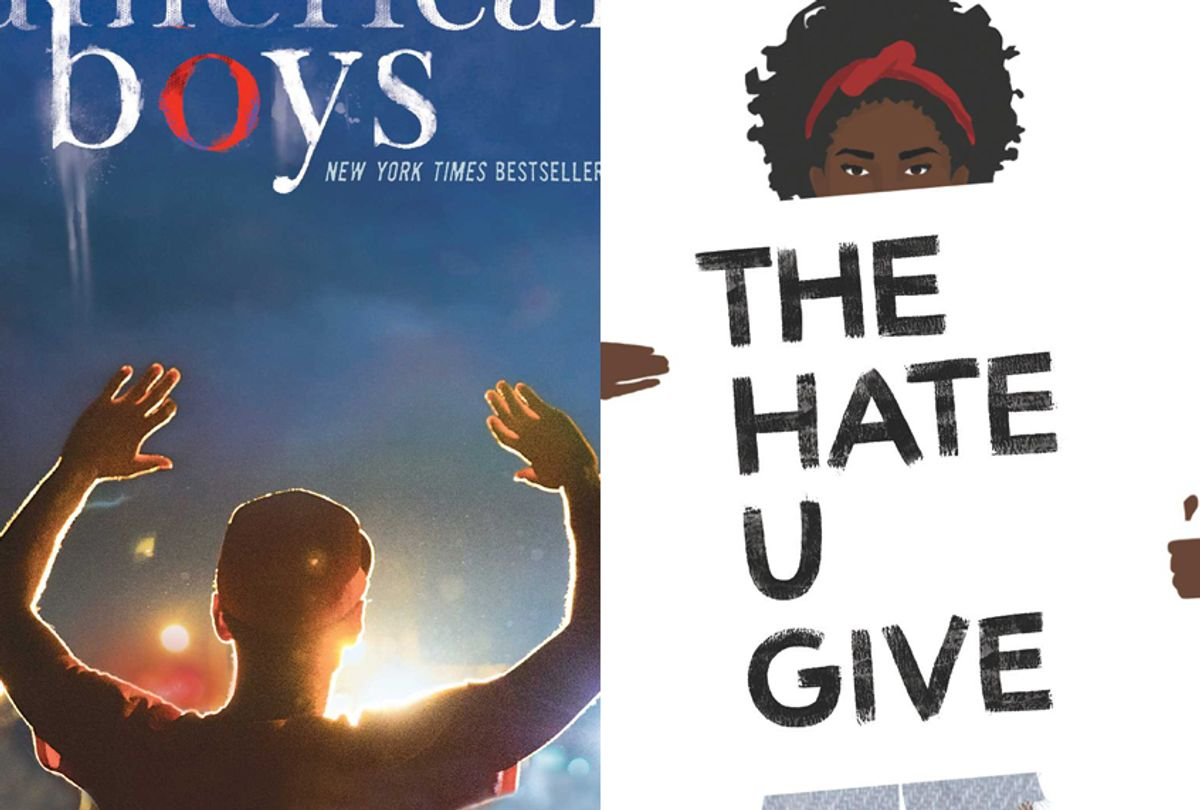 """""""All American Boys"""" by Brendan Kiely and Jason Reynolds; """"The Hate U Give"""" by Angie Thomas (Simon & Schuster/HarperCollins)"""