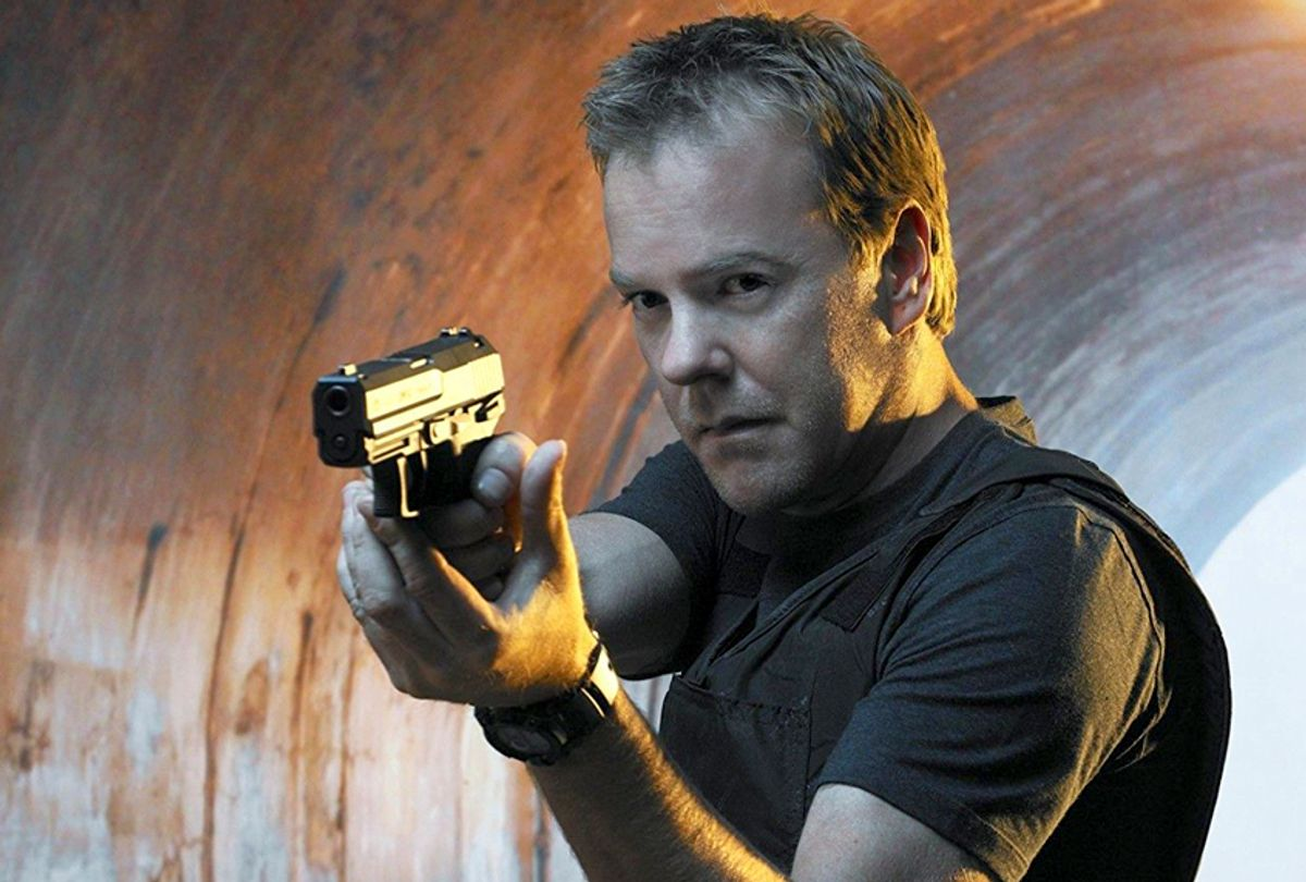 """Kiefer Sutherland as Jack Bauer in """"24"""" (20th Century Fox Television)"""