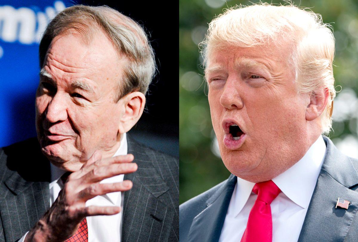 Pat Buchanan; Donald Trump (Getty/Kris Connor/AP/Andrew Harnik)