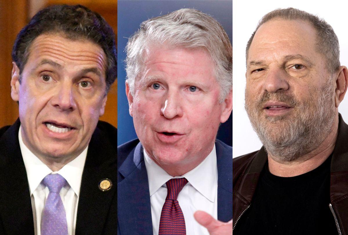Andrew Cuomo; Cyrus Vance Jr.; Harvey Weinstein (AP Photo)