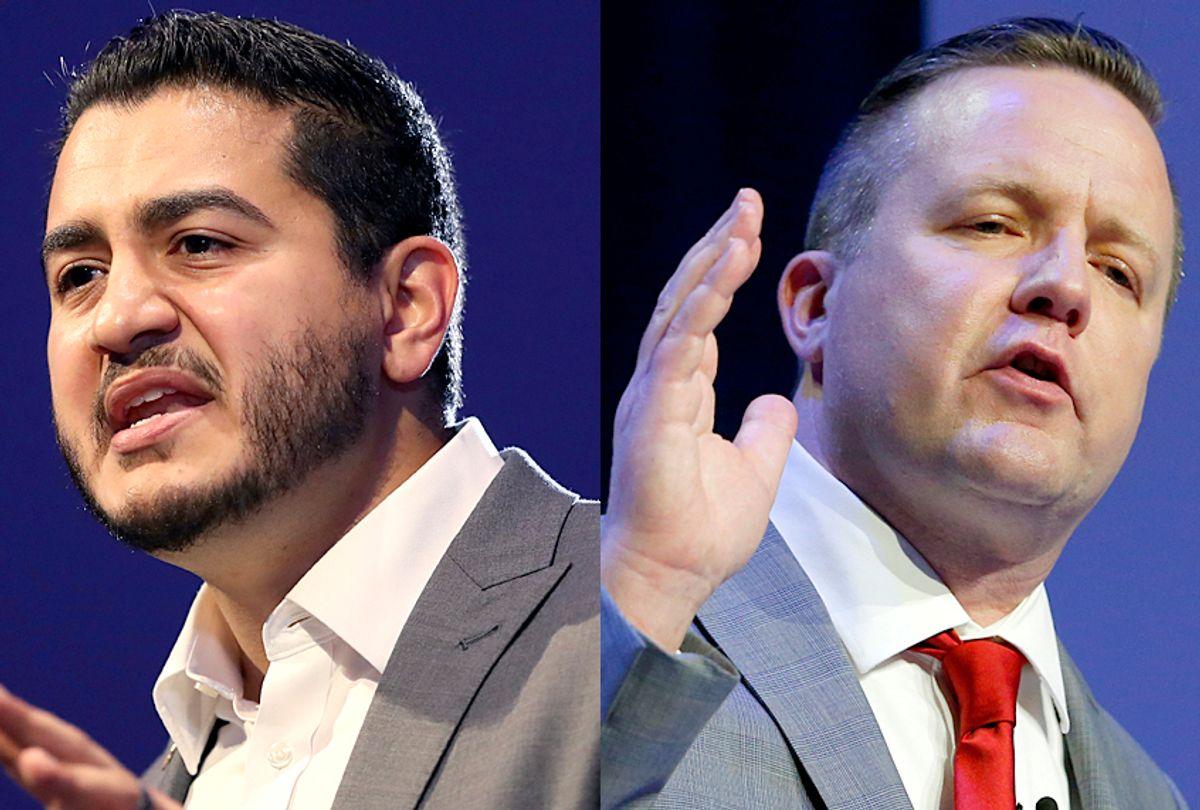 Corey Stewart; Abdul El-Sayed (AP/Carlos Osorio/Steve Helber)
