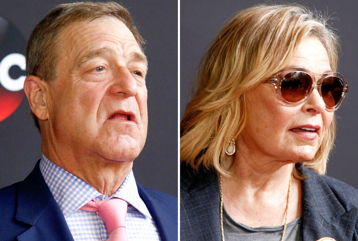 John Goodman; Roseanne Barr (AP/Andy Kropa)