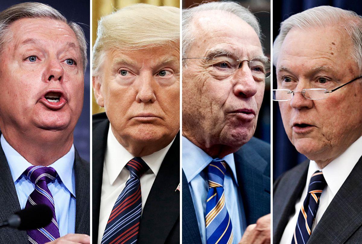 Lindsey Graham; Donald Trump; Chuck Grassley; Jeff Sessions (AP/Getty)