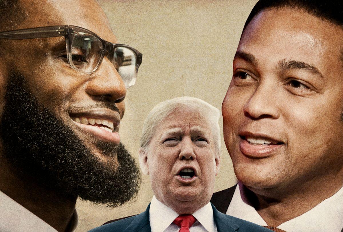 LeBron James; Donald Trump; Don Lemon (AP/Getty/Salon)