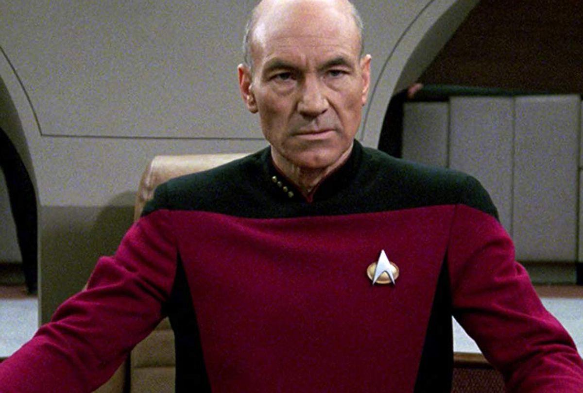 "Patrick Stewart as  Jean-Luc Picard in ""Star Trek: The Next Generation"" (CBS/Paramount)"