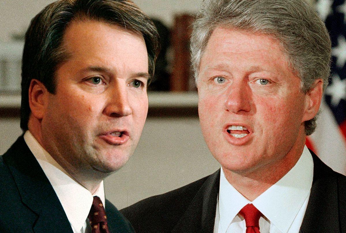 Brett Kavanaugh;  Bill Clinton (AP/Getty/Photo montage by Salon)
