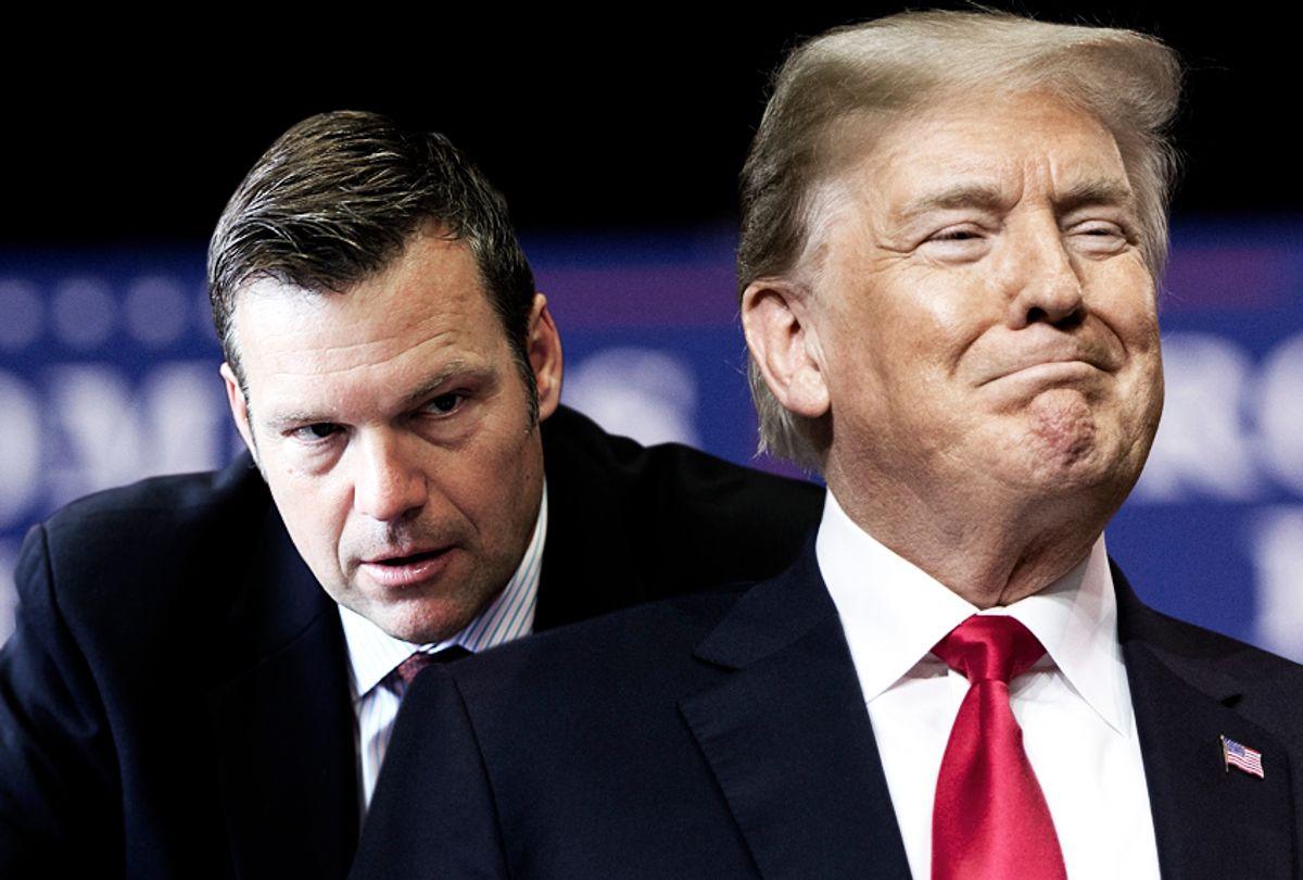 Kris Kobach; Donald Trump (AP/Getty/Salon)