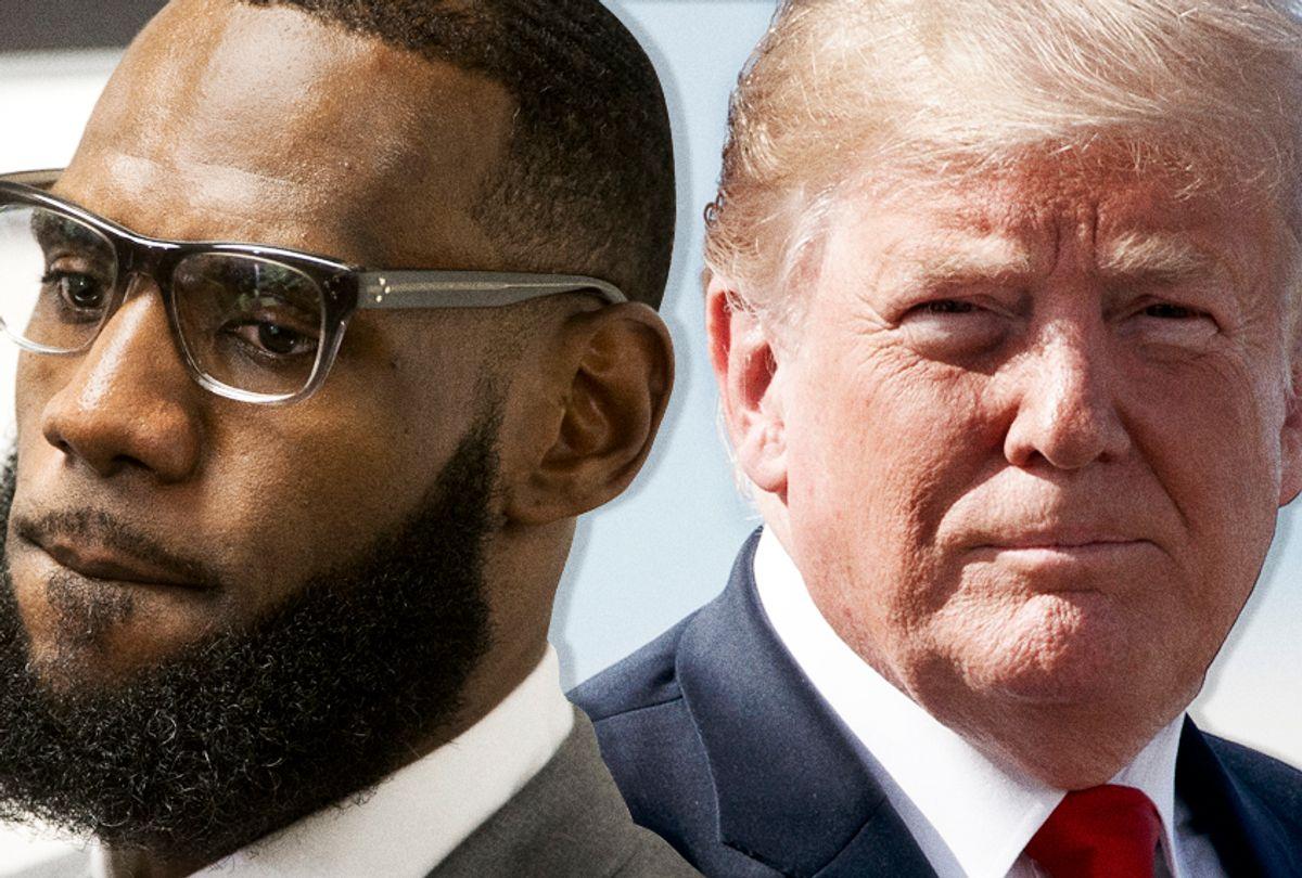 LeBron James; Donald Trump (AP/Phil Long/Carolyn Kaster/Salon)