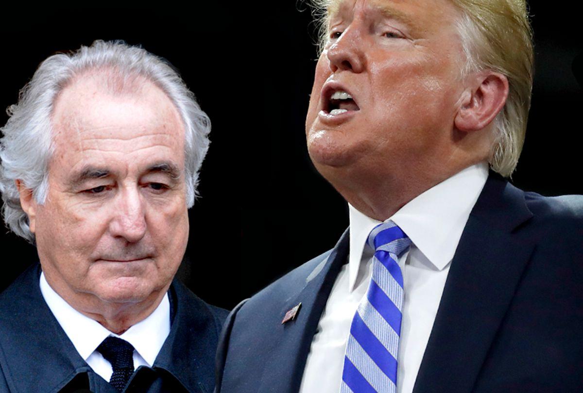 Bernard Madoff; Donald Trump (AP/Salon)