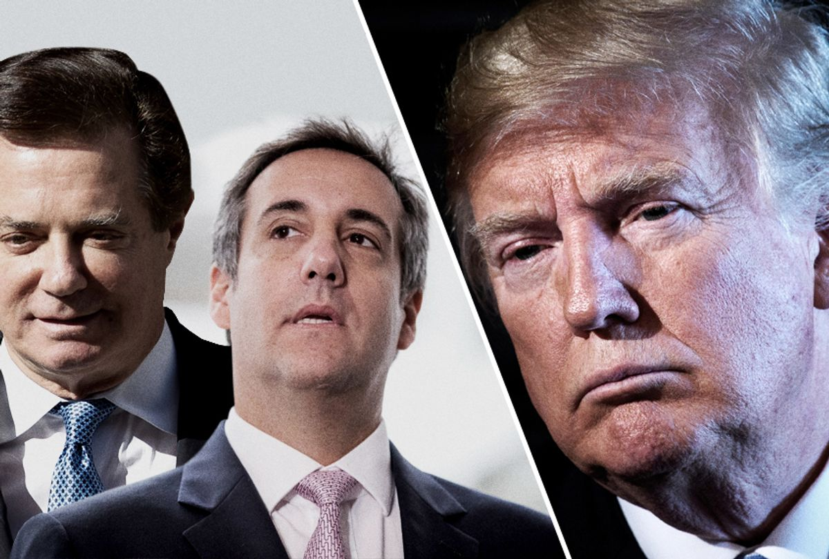 Paul Manafort; Michael Cohen; Donald Trump (Getty/AP/Salon)