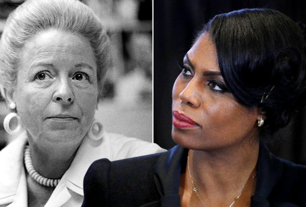 Martha Mitchell; Omarosa Manigault (AP/Harvey Georges/Manuel Balce Ceneta)