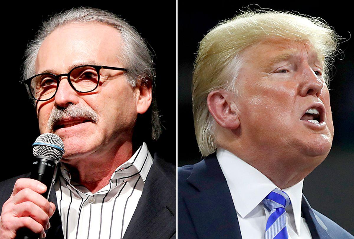 David Pecker; Donald Trump (AP/Marion Curtis/Alex Brandon)