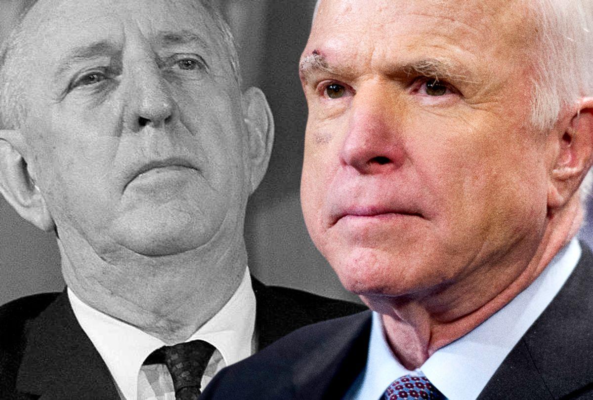 Sen. Richard Russell; Sen. John McCain (AP/Charles Tasnadi/Cliff Owen)