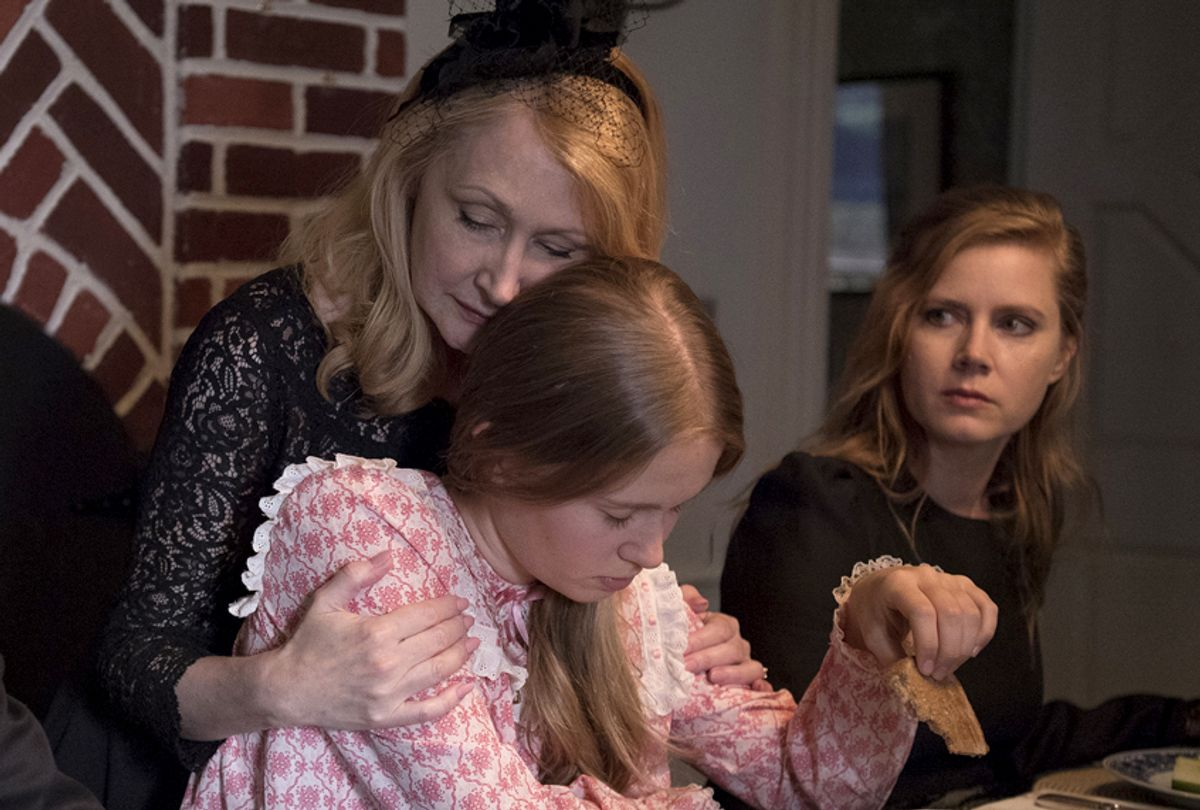 "Patricia Clarkson as Adora Crellin, Eliza Scanlen as Amma Crellin, and Amy Adams as Camille Preaker in ""Sharp Objects"" (HBO/Anne Marie Fox)"