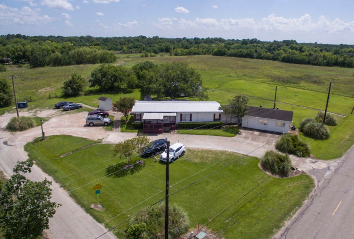 Shiloh Treatment Center, shown in an aerial photograph, is in the same area and run by the same person who operated the Daystar Residential Inc. facility, which the state of Texas shut down in 2011. State officials allowed Clay Hill to continue running Shiloh, even though state law should have stopped him from operating any residential child care centers for five years. (Brandon Wade for Reveal)