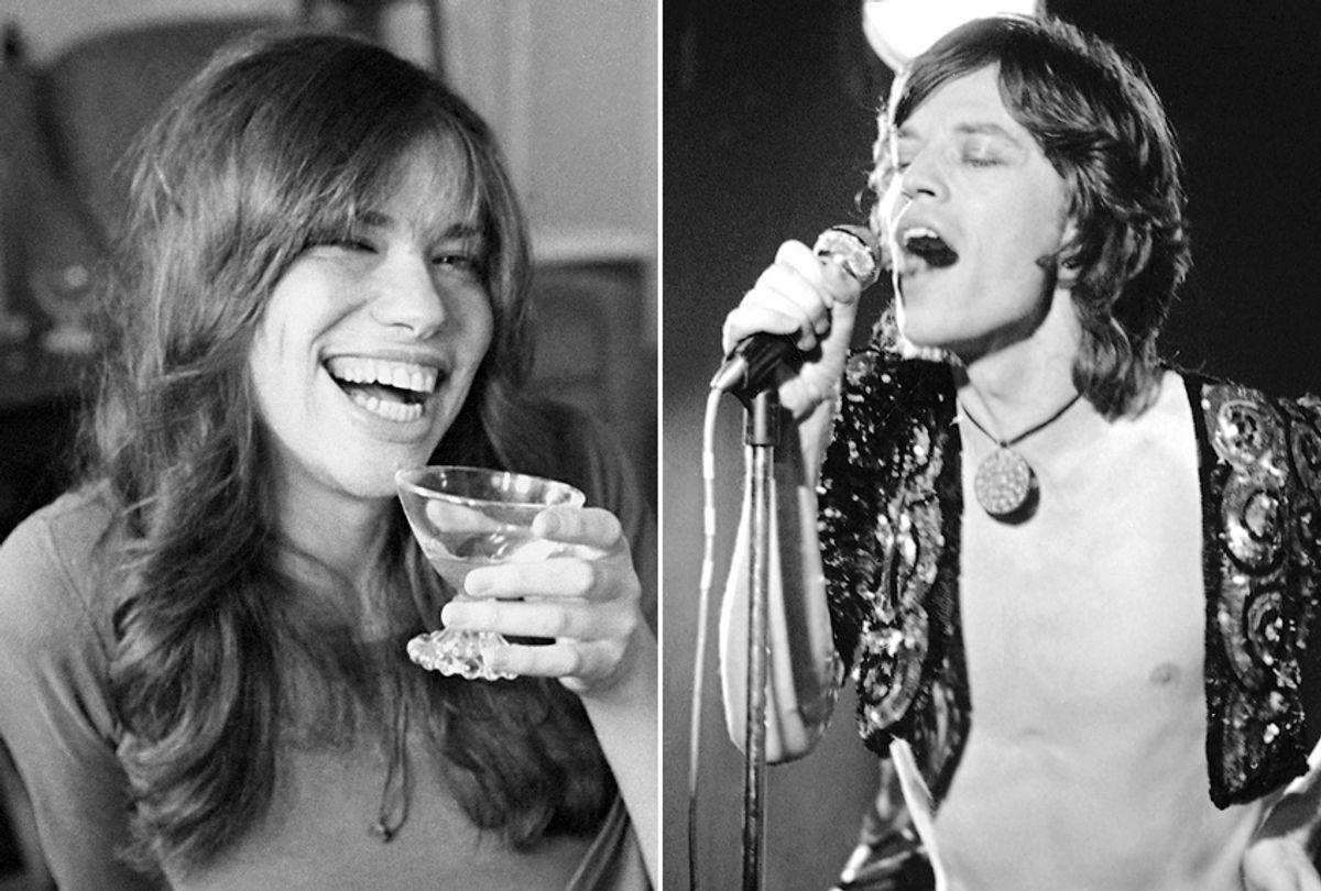 Carly Simon; Mick Jagger (AP Photo)