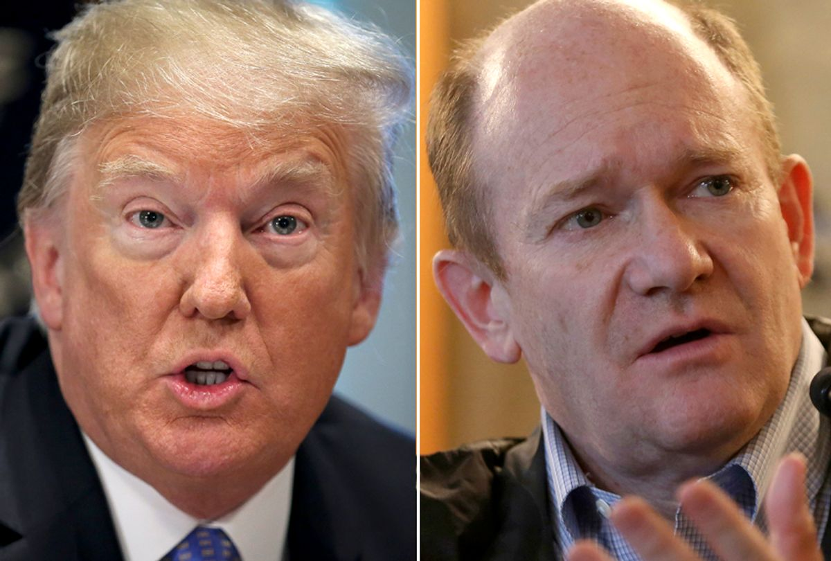 Donald Trump; Chris Coons (Getty/AP)