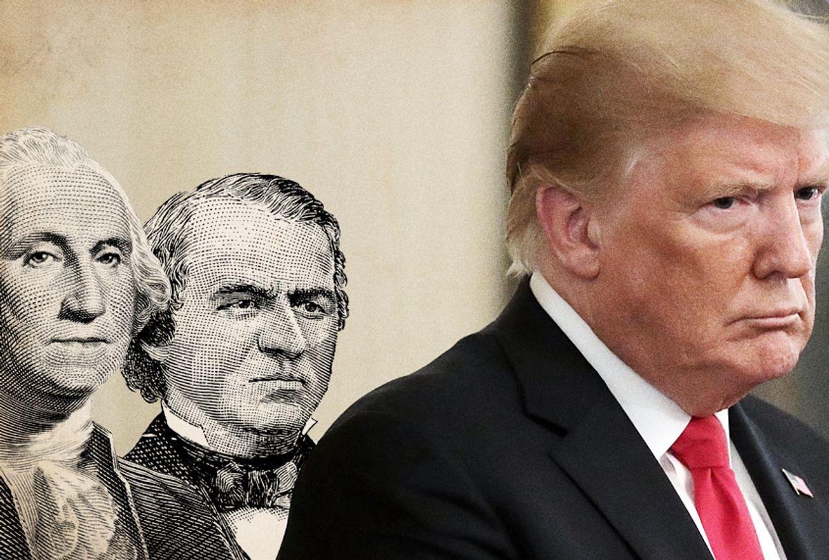George Washington; Andrew Johnson; Donald Trump (Getty/Salon)