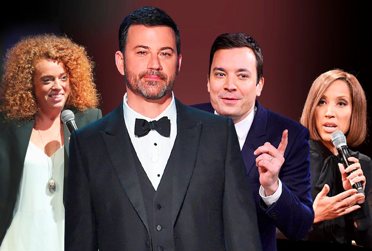 Michelle Wolf; Jimmys Kimmel and Fallon; Robin Thede (Getty/Salon)