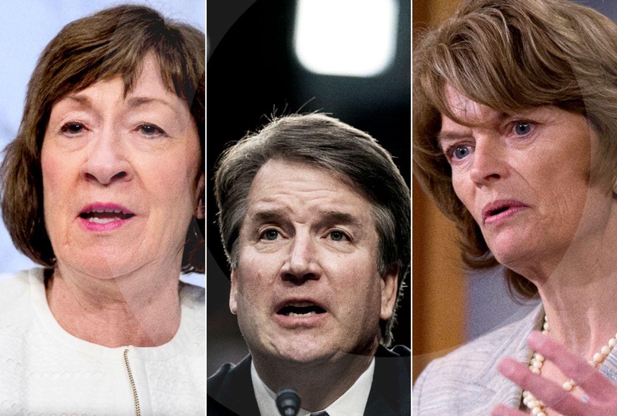 Susan Collins; Brett Kavanaugh; Lisa Murkowski (AP/Salon)