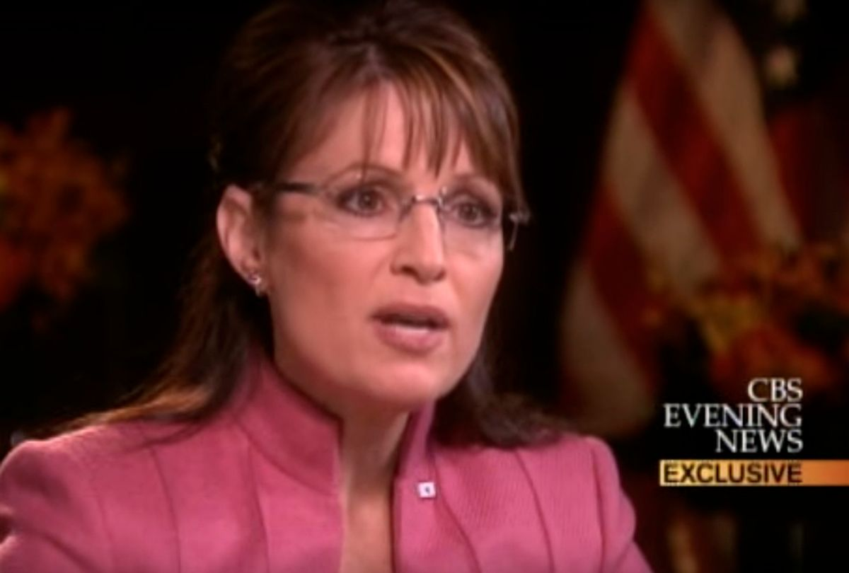 Sarah Palin being interviewed by Katie Couric (CBS)
