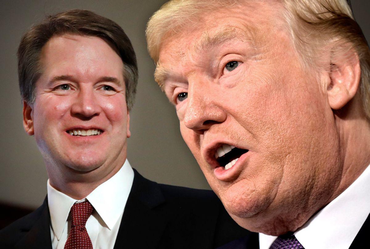 Brett Kavanaugh; Donald Trump (AP/Getty/Photo montage by Salon)