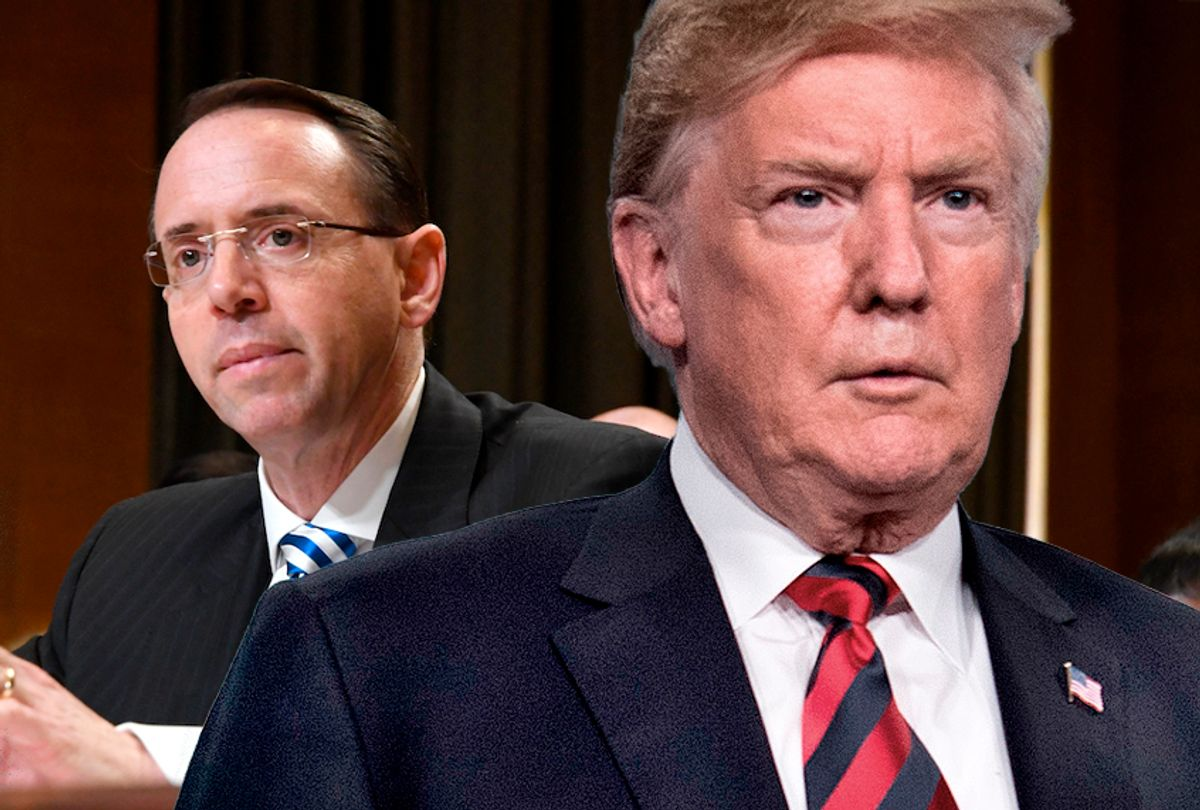 Rod Rosenstein; Donald Trump (AP/Salon)