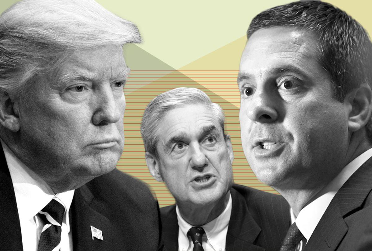 Donald Trump; Robert Mueller; Devin Nunes (AP/Salon)