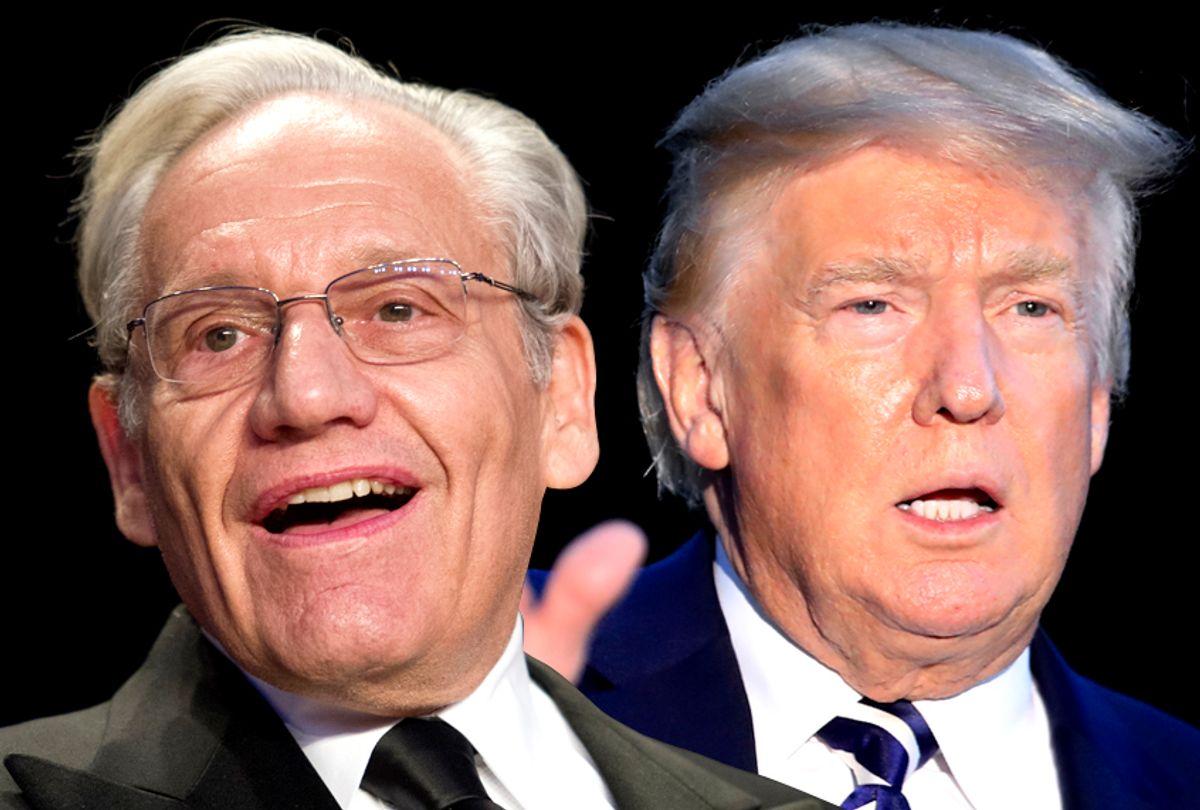 Bob Woodward; Donald Trump (AP/Salon)