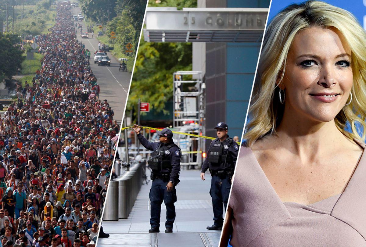 Migrant caravan; Bomb squad at CNN's offices; Megyn Kelly (AP)