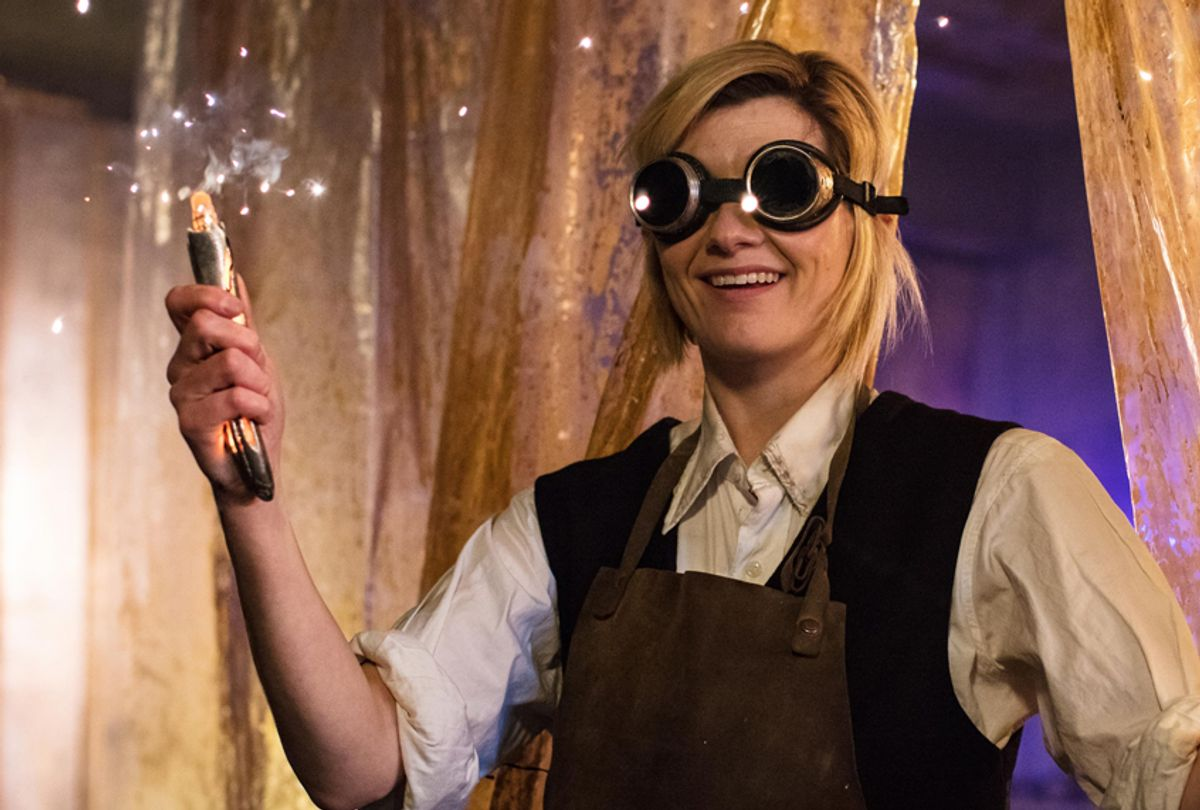 """Jodie Whittaker as The Doctor in """"Doctor Who"""" (BBC/Sophie Mutevelian)"""