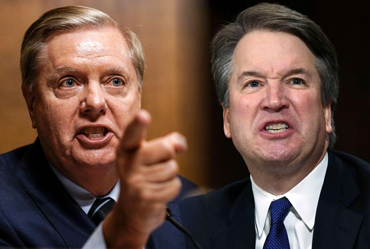 Lindsey Graham; Brett Kavanaugh (AP/Salon)