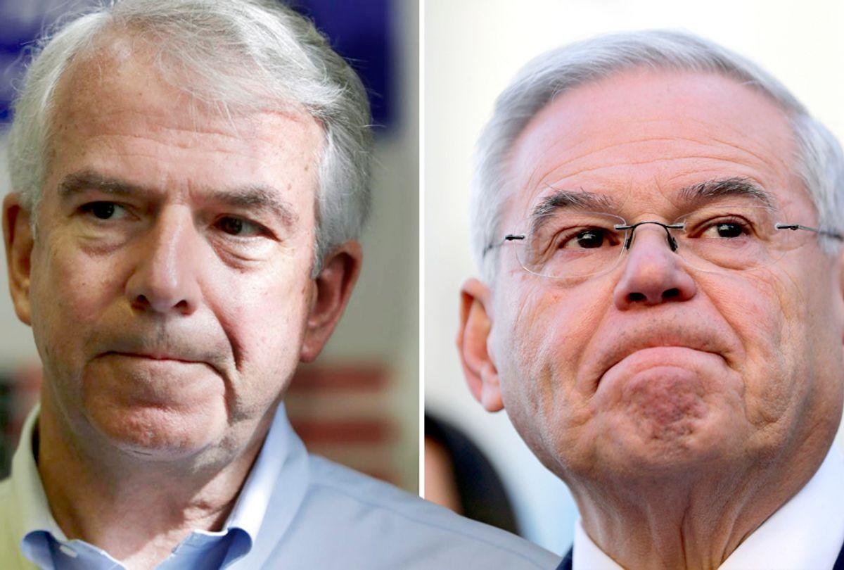 Bob Hugin; Bob Menendez (AP/Julio Cortez/Seth Wenig)