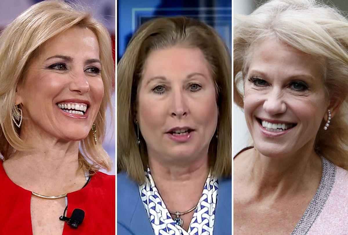 Laura Ingraham; Sidney Powell; Kellyanne Conway (Getty/AP/YouTube/Fox Business)