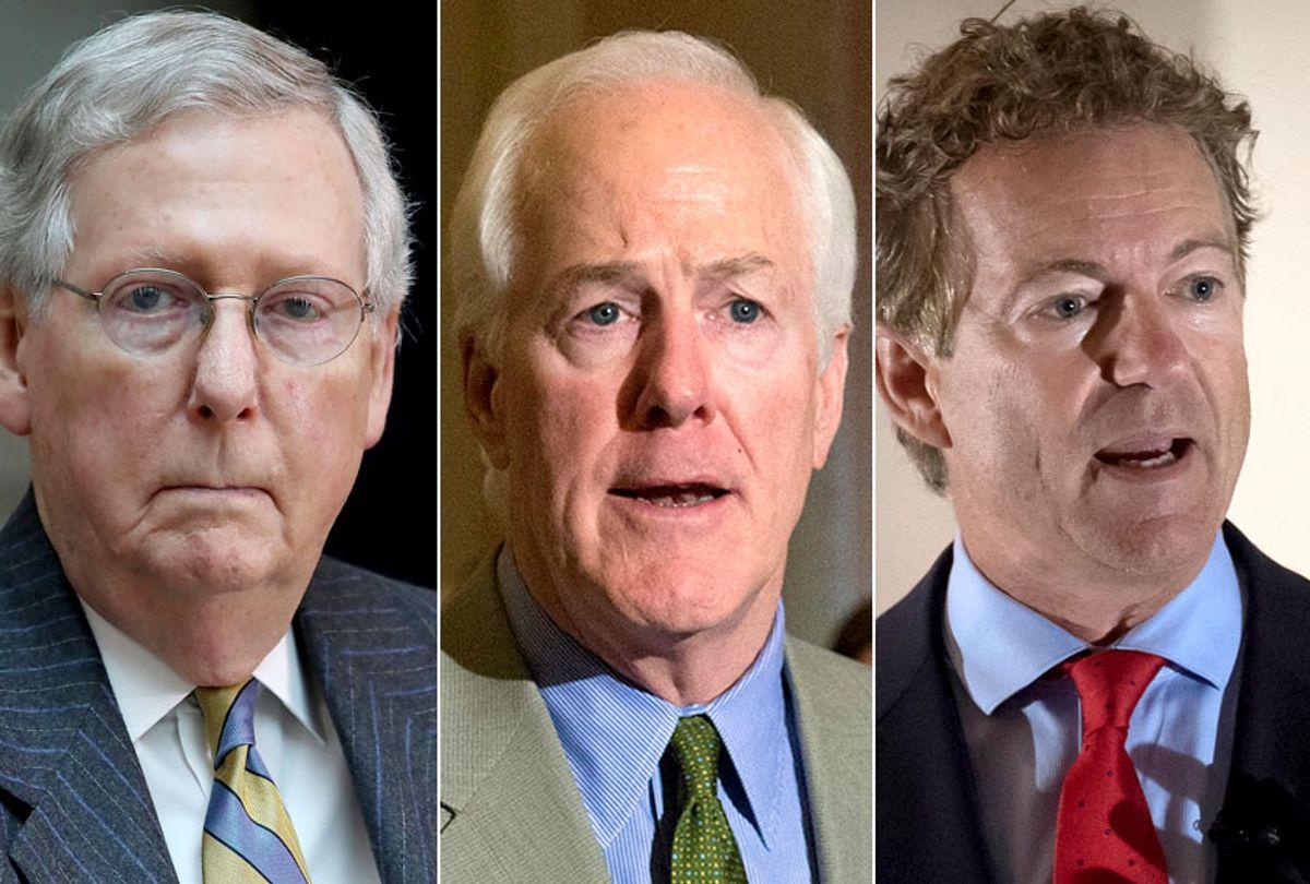 Mitch McConnell; John Cornyn; Rand Paul (Getty/AP)