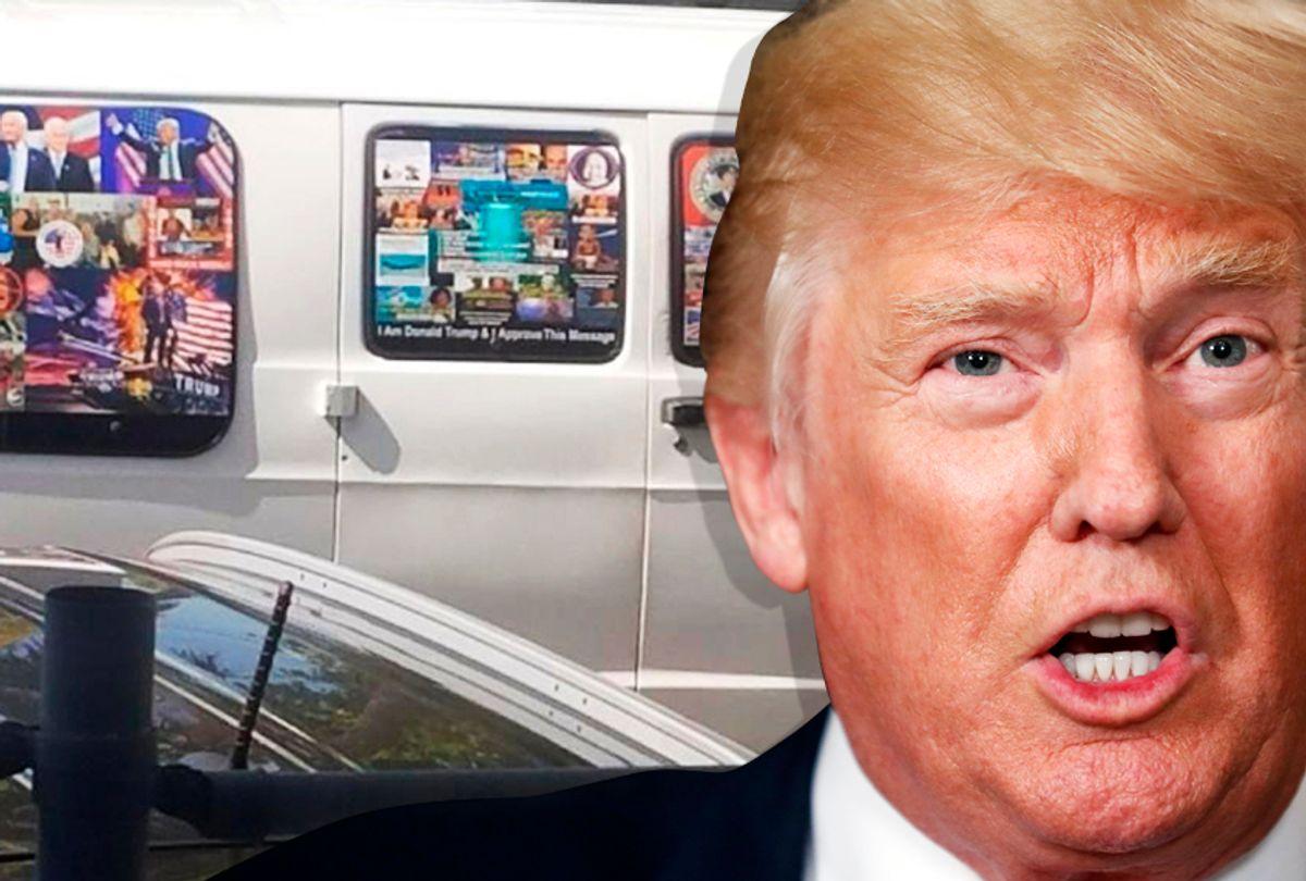 Cesar Sayoc's van; Donald Trump (AP/Salon)