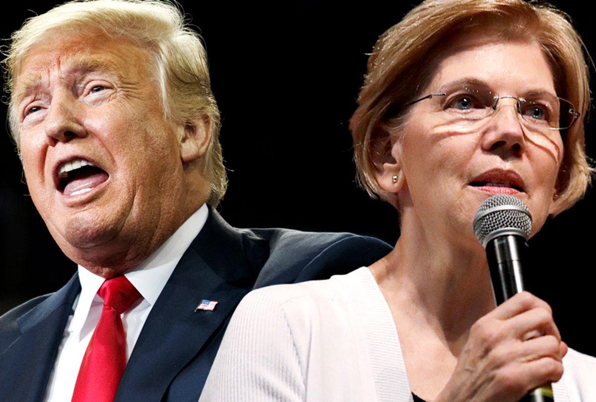 Donald Trump; Elizabeth Warren (AP/Salon)