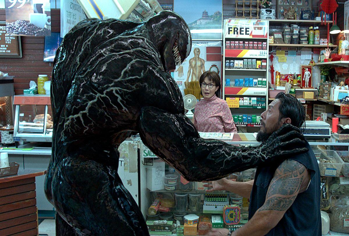 "Tom Hardy as Eddie Brock/Venom in ""Venom"" (Columbia Pictures)"
