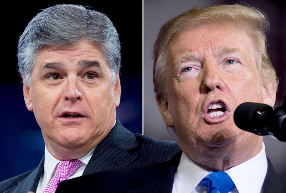 Sean Hannity; Donald Trump (Getty/Saul Loeb/AP/Andrew Harnik)