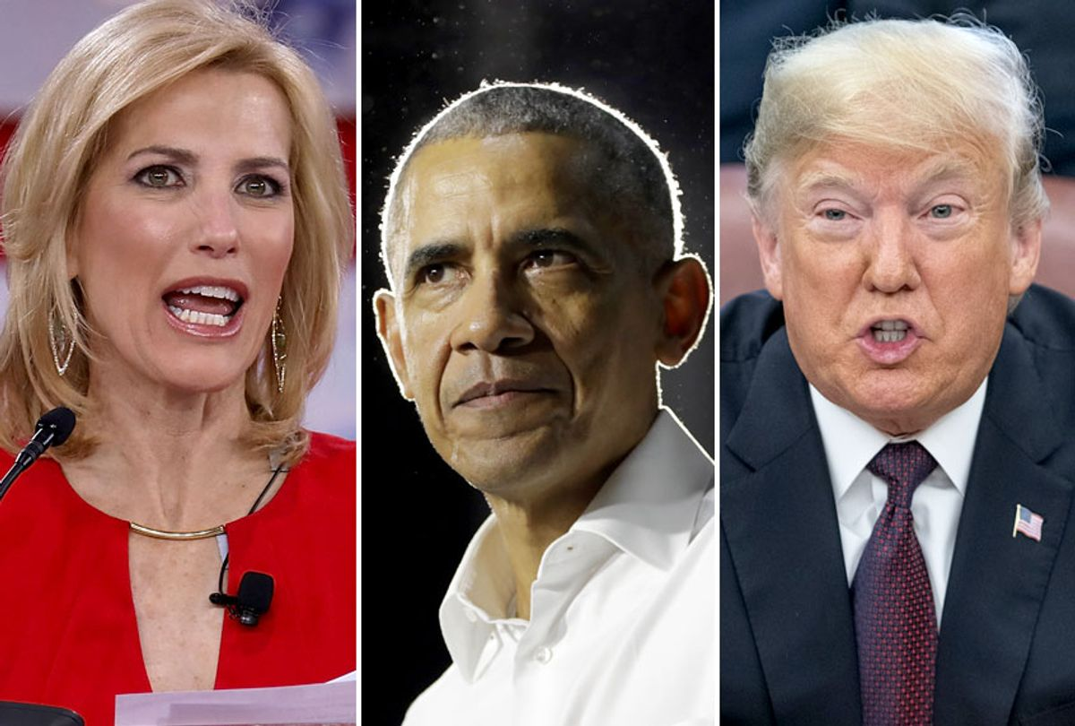 Laura Ingraham; Barack Obama; Donald Trump (AP/Getty)