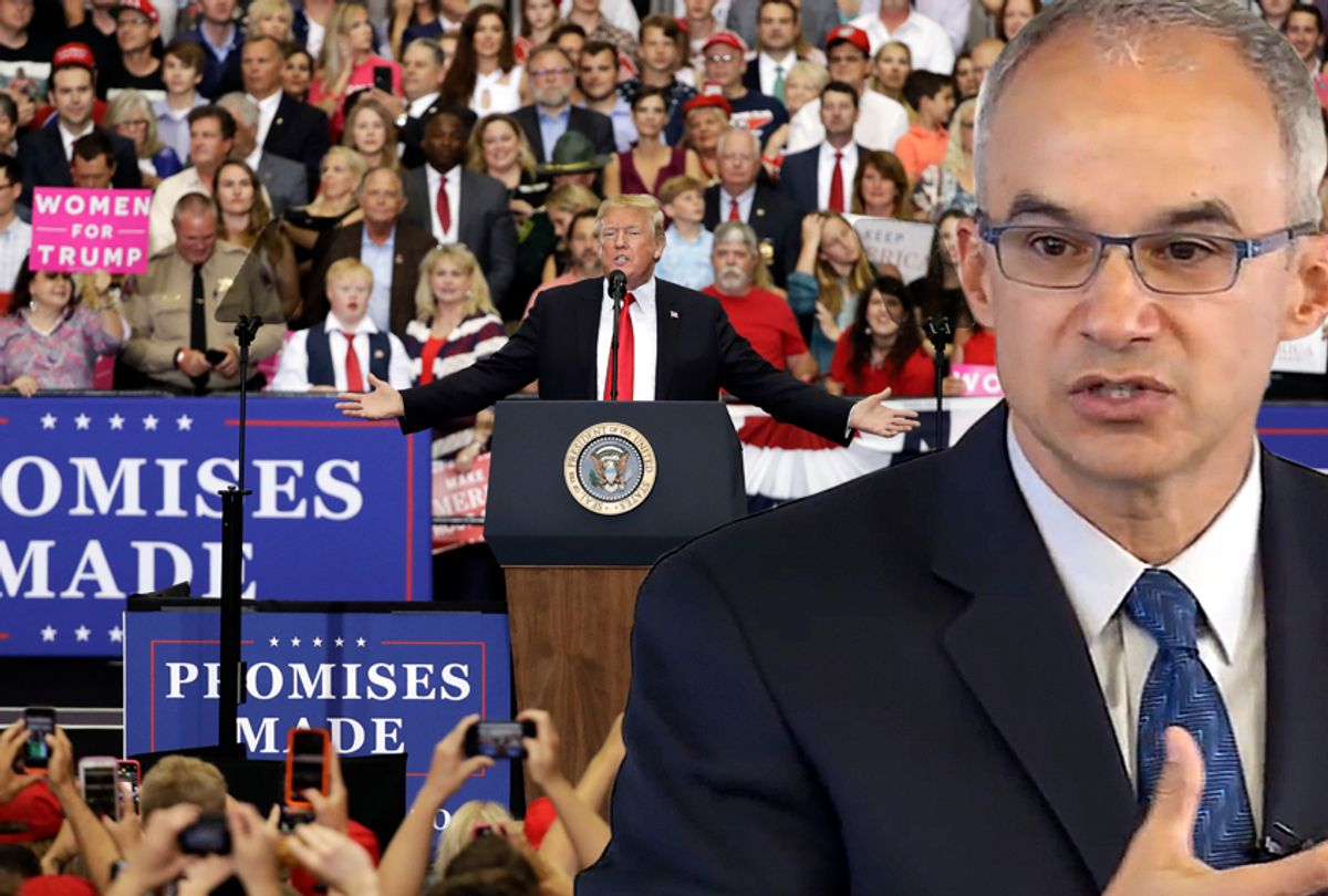 Ian Haney López; Donald Trump speaks at a rally. (AP/YouTube/Brown University/Photo Montage by Salon)
