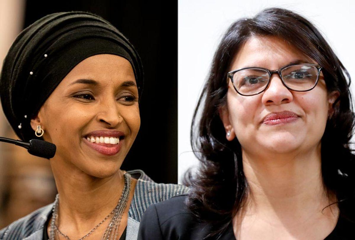 Ilhan Omar; Rashida Tlaib (Getty/Stephen Maturen/AP/Paul Sancya)