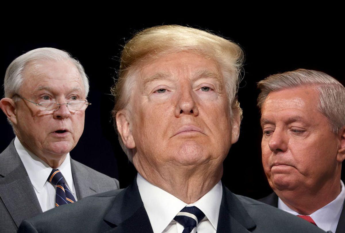 Jeff Sessions; Donald Trump; Lindsey Graham  (Getty/Salon)