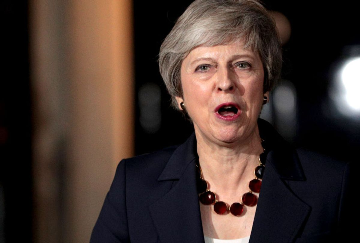 British Prime Mininster, Theresa May delivers a Brexit statement at Downing Street on November 14, 2018 in London, England. (Getty/Dan Kitwood)