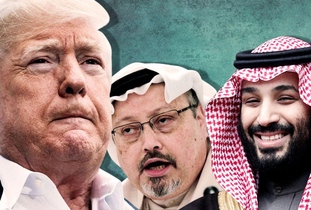 Donald Trump; Jamal Khashoggi; Mohammed bin Salman (AP/Getty/Salon)