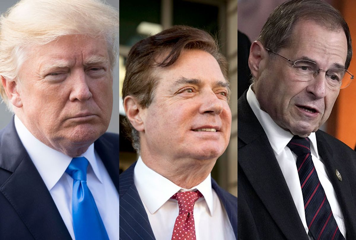 Donald Trump: Paul Manafort; Jerrold Nadler (Getty/Saul Loeb/Alex Wong/AP/Andrew Harnik)