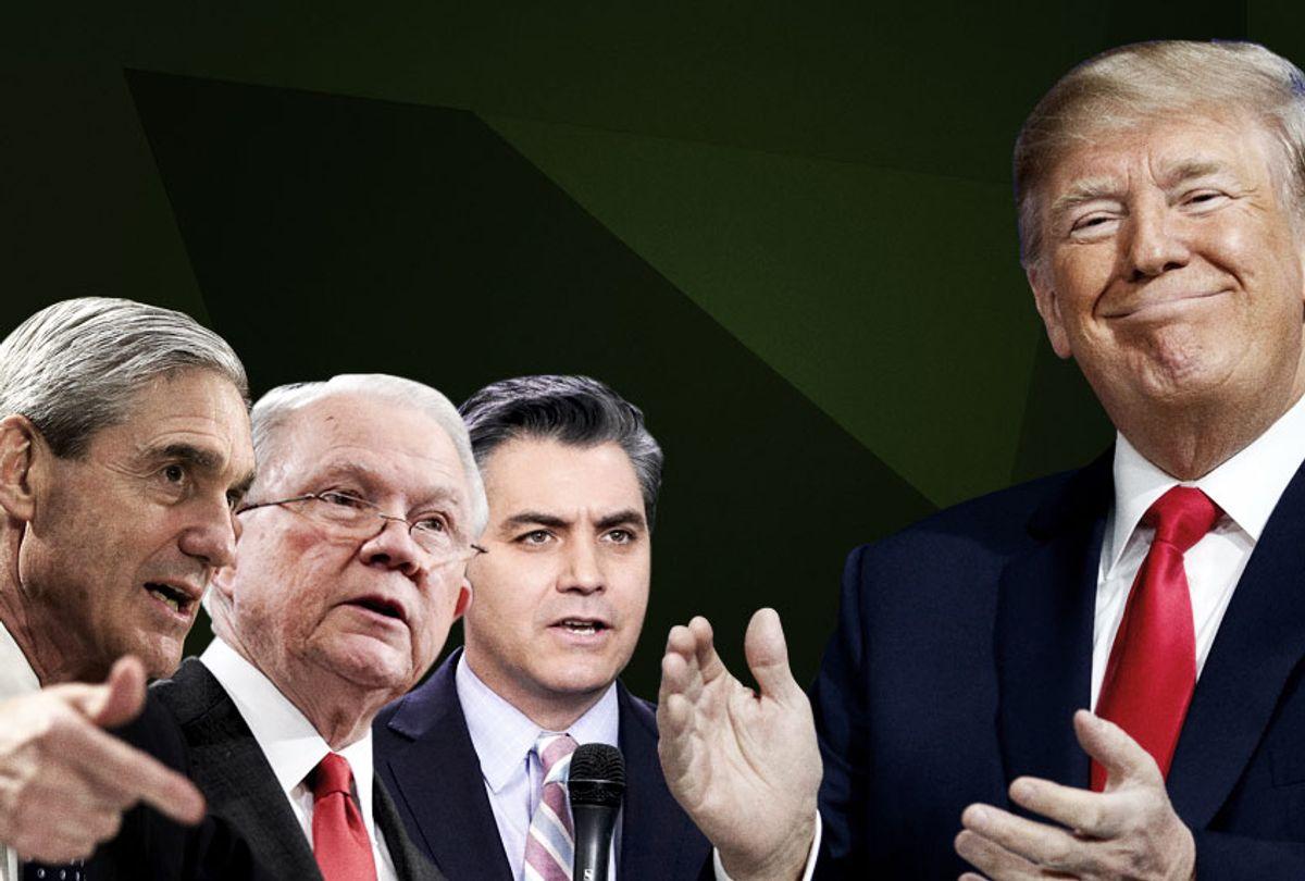 Robert Mueller; Jeff Sessions; Jim Acosta; Donald Trump (AP/Getty/Salon)