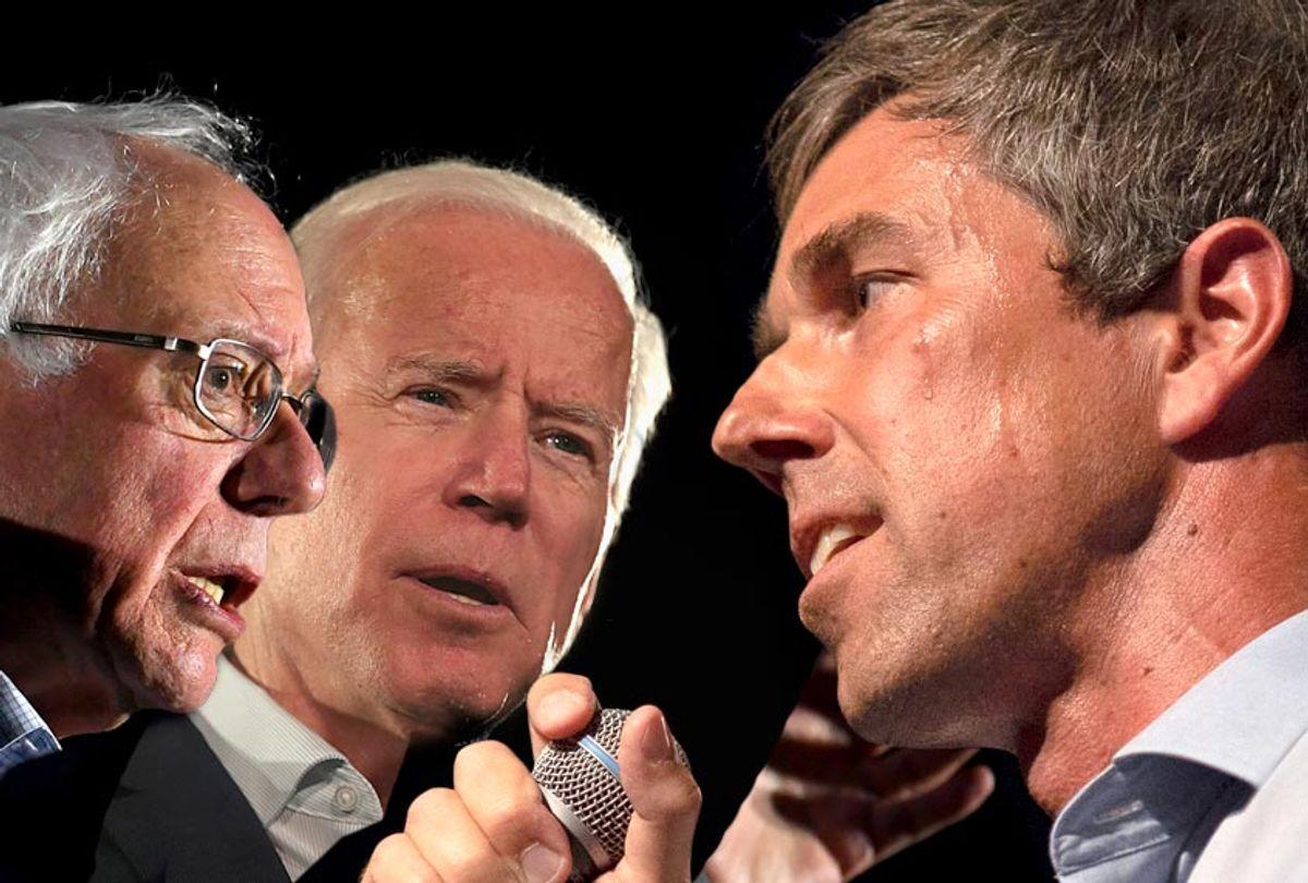 Bernie Sanders; Joe Biden; Beto O'Rourke (Getty/Salon)