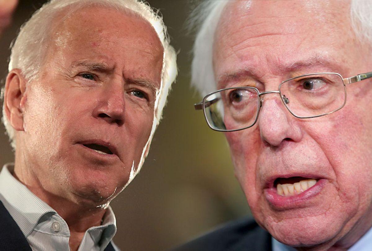 Joe Biden; Bernie Sanders (Getty/Photo Montage by Salon)